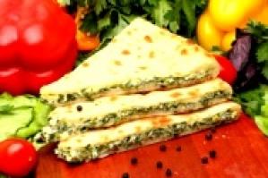 Осетинский пирог со шпинатом и осетинским сыром